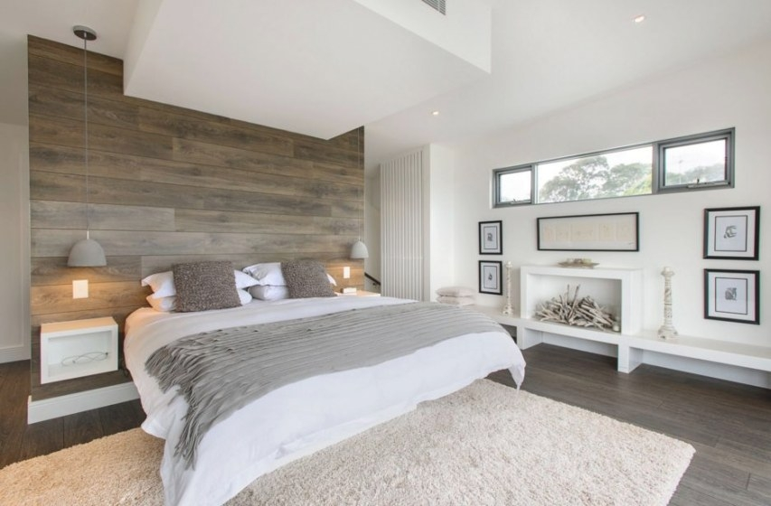 Give Artistic Look To Your Bedroom With White Wooden Flooring with regard to White And Wood Bedroom