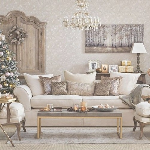 Gold Christmas Living Room In 2020 | Christmas Living within Silver And Gold Bedroom