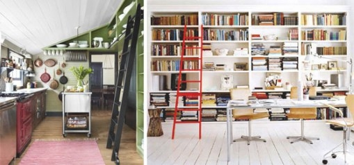 Gotta Love A Library Ladder - This Way Home within Library Ladder In Kitchen