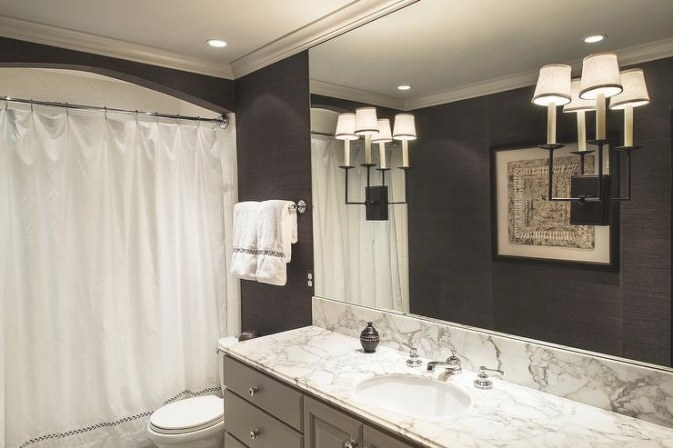Gray And Black Bathroom Design - Contemporary - Bathroom for Black And Gray Bathroom