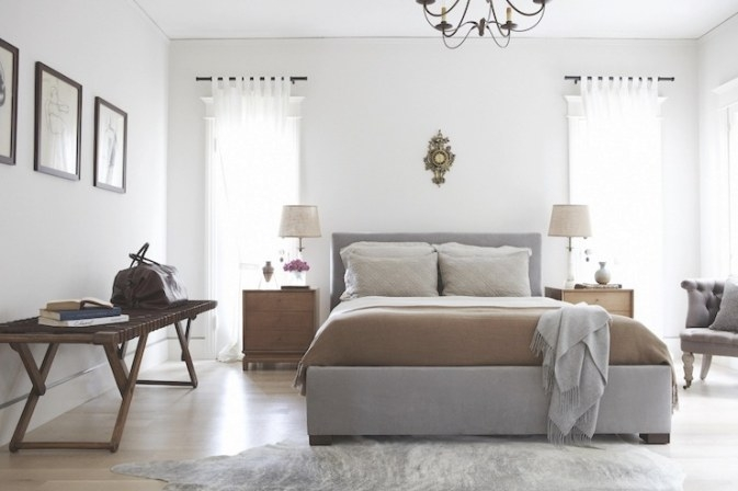 Gray And Brown Bedroom - Contemporary - Bedroom - Simo Design intended for Grey And Tan Bedroom