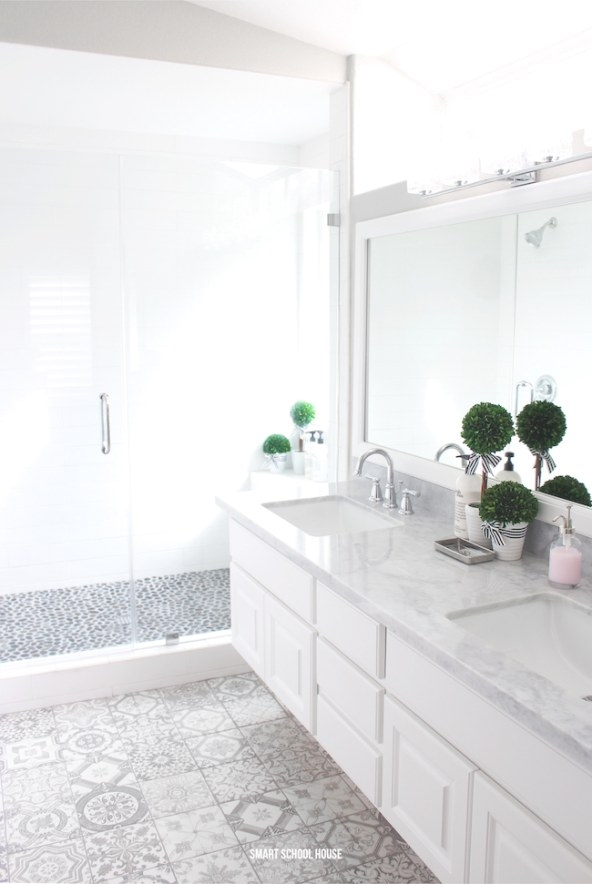 Gray And White Bathroom - Smart School House intended for White And Grey Bathroom