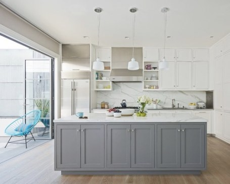 Gray And White Kitchens Home Design Ideas, Pictures with regard to Grey And White Kitchen
