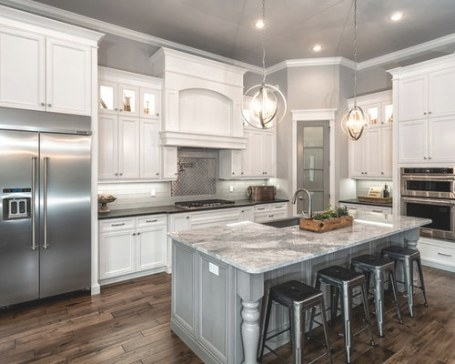Gray And White Kitchens | Houzz pertaining to White And Gray Kitchens