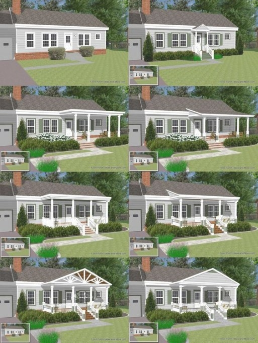 Great Front Porch Designs Illustrator On A Basic Ranch in Back Porch Ideas For Ranch Style Homes