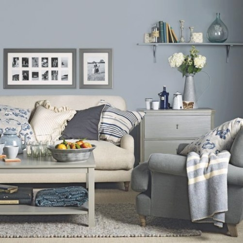 Great Schemes With Mix-And-Match Living Room Chairs throughout Cream And Blue Bedrooms