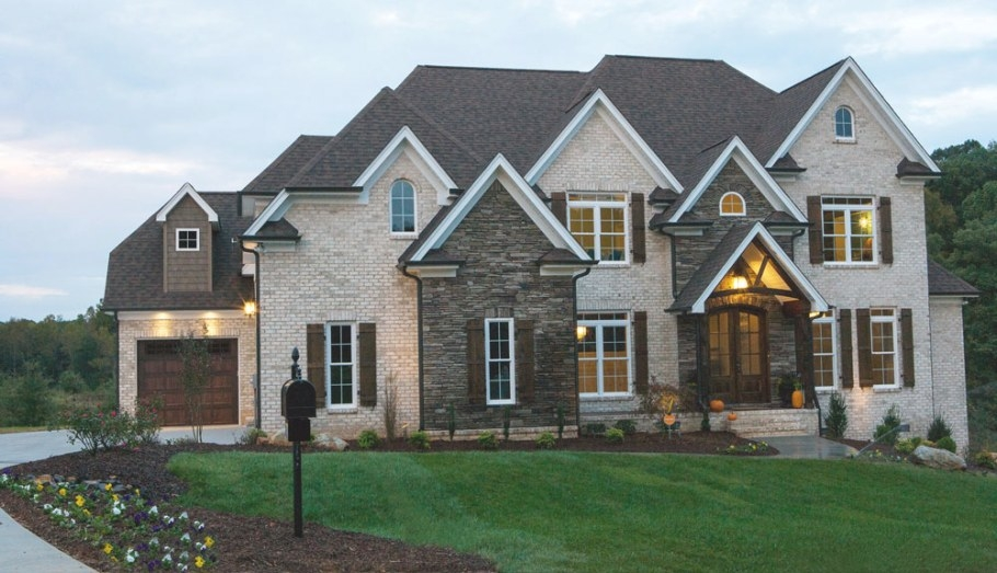 Gunter Custom Homes & Design Using Richmond Hill And throughout Brick And Stone Homes