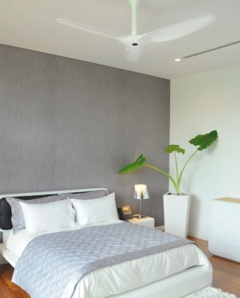 Haiku White Ceiling Fan In The Bedroom - Contemporary with Ceiling Fan In Bedroom