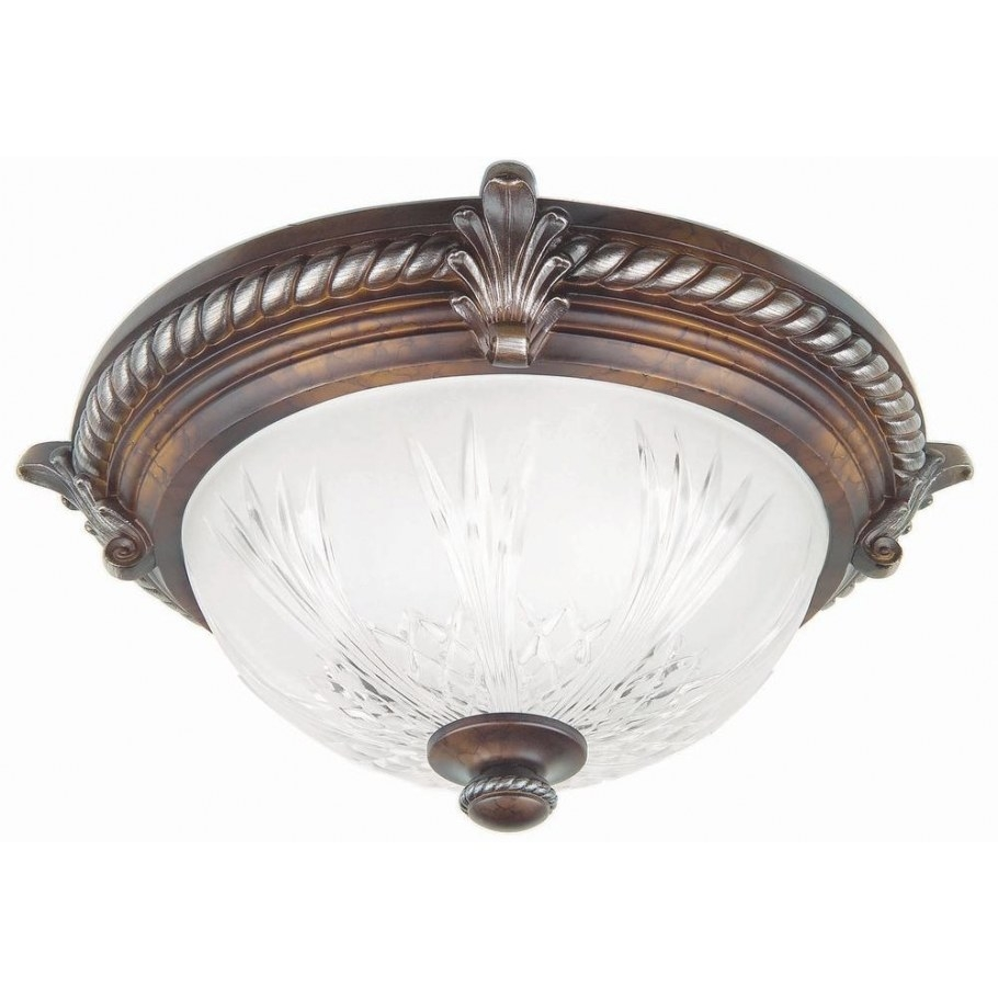 Hampton Bay Bercello Estates 15 In. 2-Light Volterra within Flush Mount Ceiling Lights