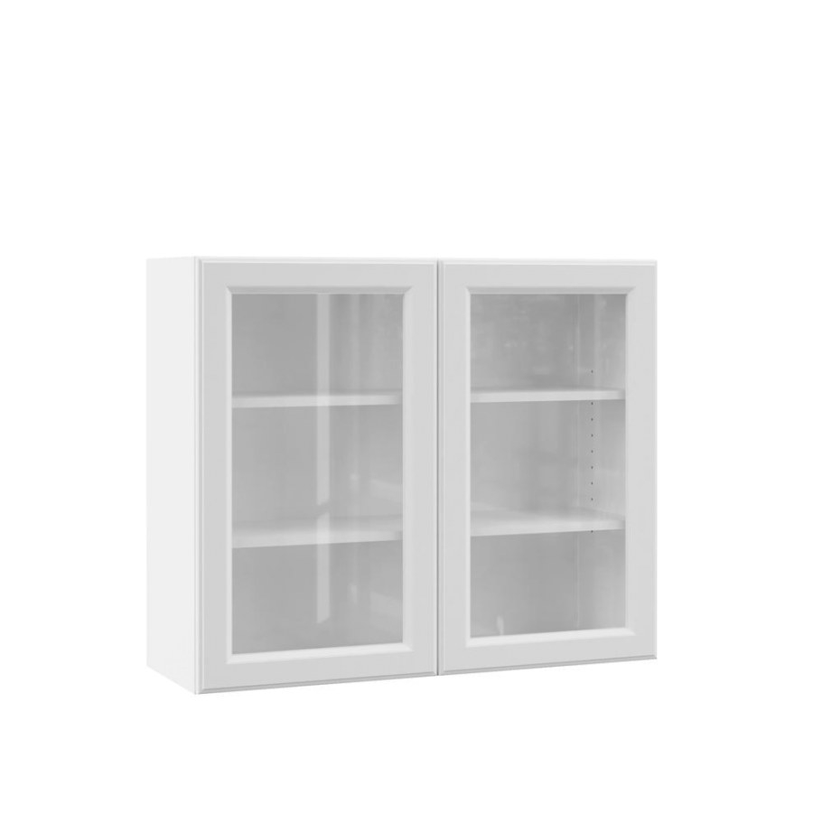 Hampton Bay Designer Series Elgin Assembled 36X30X12 In inside White Kitchen Cabinet Doors