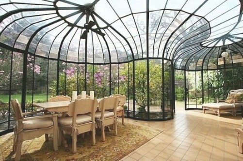 Having Dinner Out In Your Own Sunroom | Decohoms with regard to Turning A Sunroom Into A Bedroom