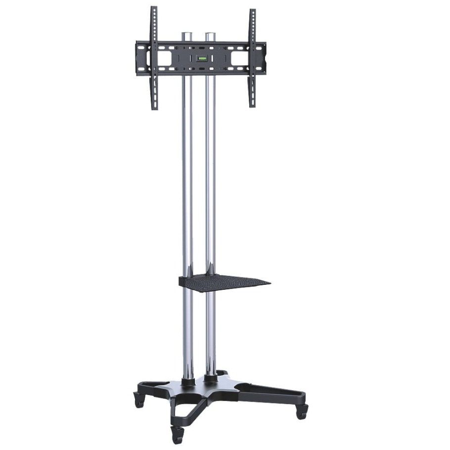 "Heavy Duty Tv Floor Stand With Wheels, 37""-70"" Tvs throughout Tv Stand With Wheels"