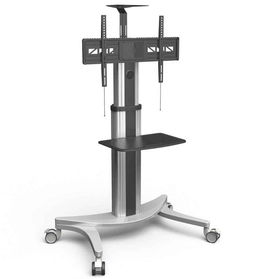 High End Mobile Tv Carts Floor Stand For Lcd Led Plasma intended for Tv Stand On Wheels