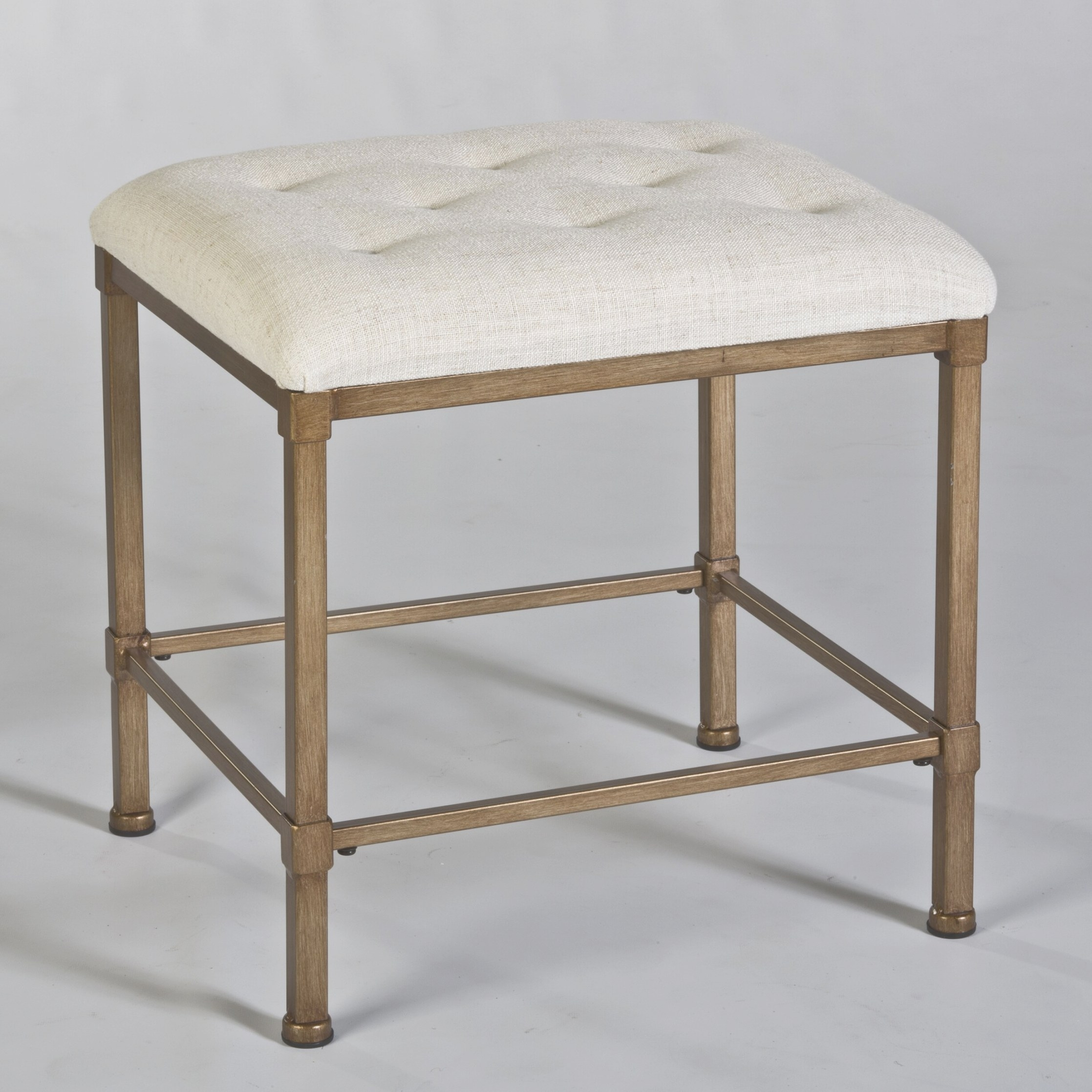 Hillsdale Katherine Backless Vanity Stool & Reviews | Wayfair within Vanity Seats For Bathrooms