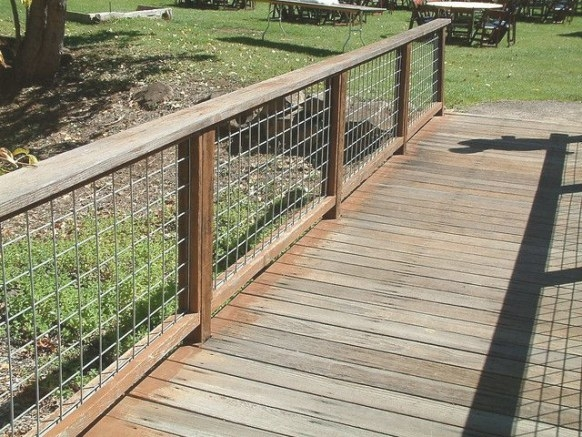 Hog Wire Fence | Backyard Fences, Wood Fence Design, Fence within Hog Wire Deck Railing