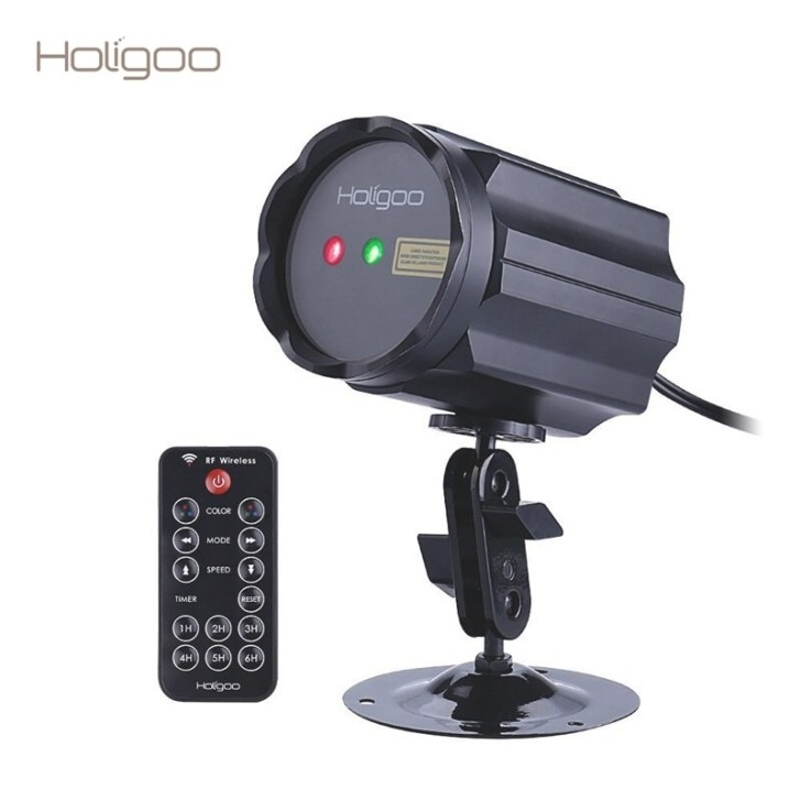 Holigoo Outdoor Christmas Laser Projector Waterproof pertaining to Remote Control Outdoor Lights