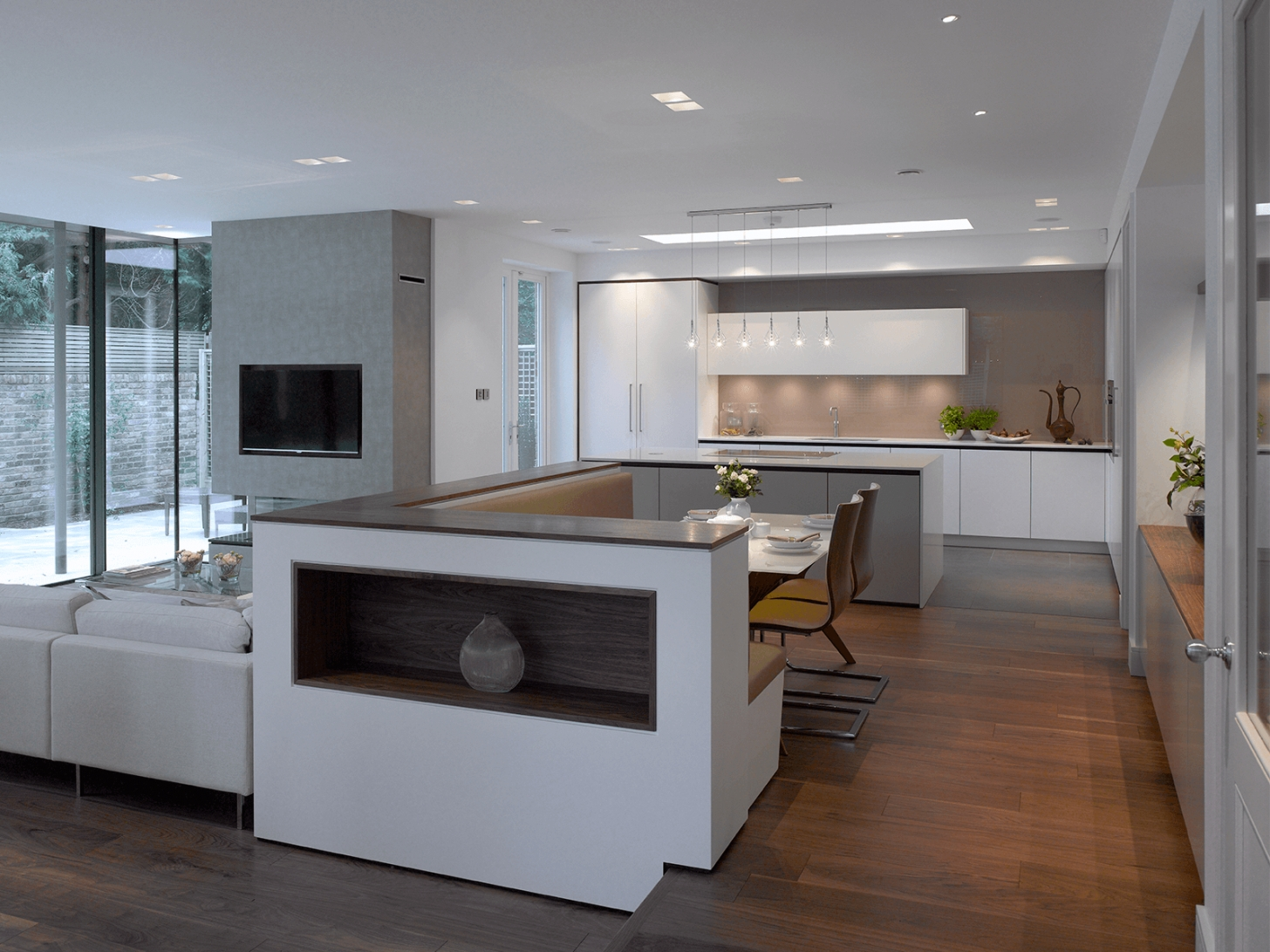 Holt: A Luxury Grey & White Kitchen From Roundhouse Design throughout White And Gray Kitchens
