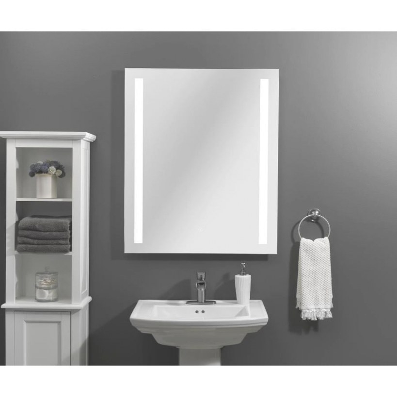 Home2O Mira Led Lit Mirror Rectangular Frameless Lighted with regard to Rectangular Mirrors For Bathroom