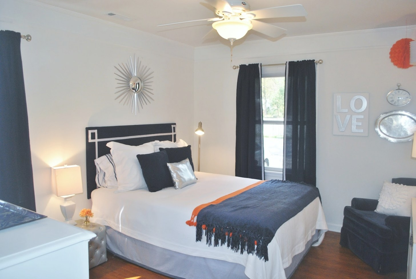 House Tour: Orange & Blue On Drake regarding Blue And Orange Bedroom