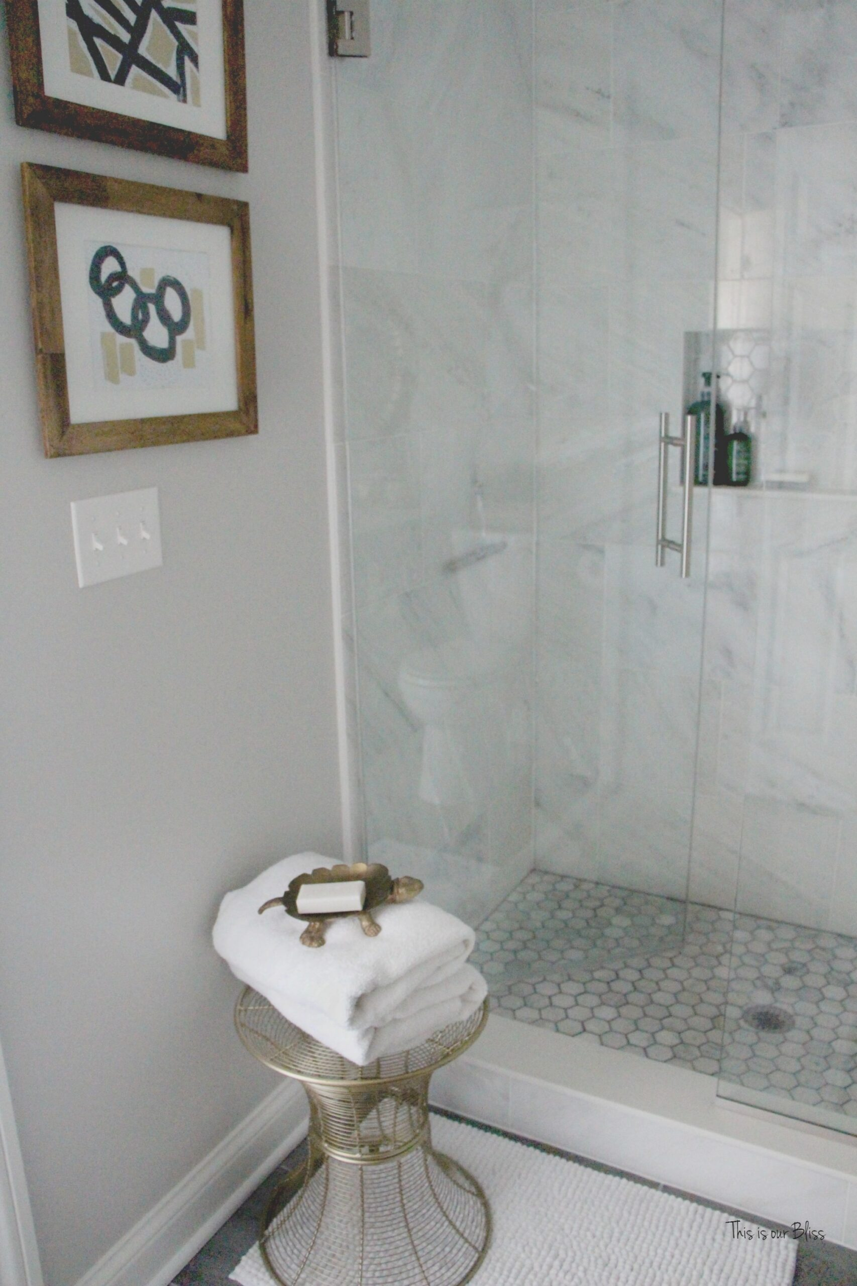 How To Create A Neutral Glam Basement Bathroom | This Is inside Black And Gray Bathroom