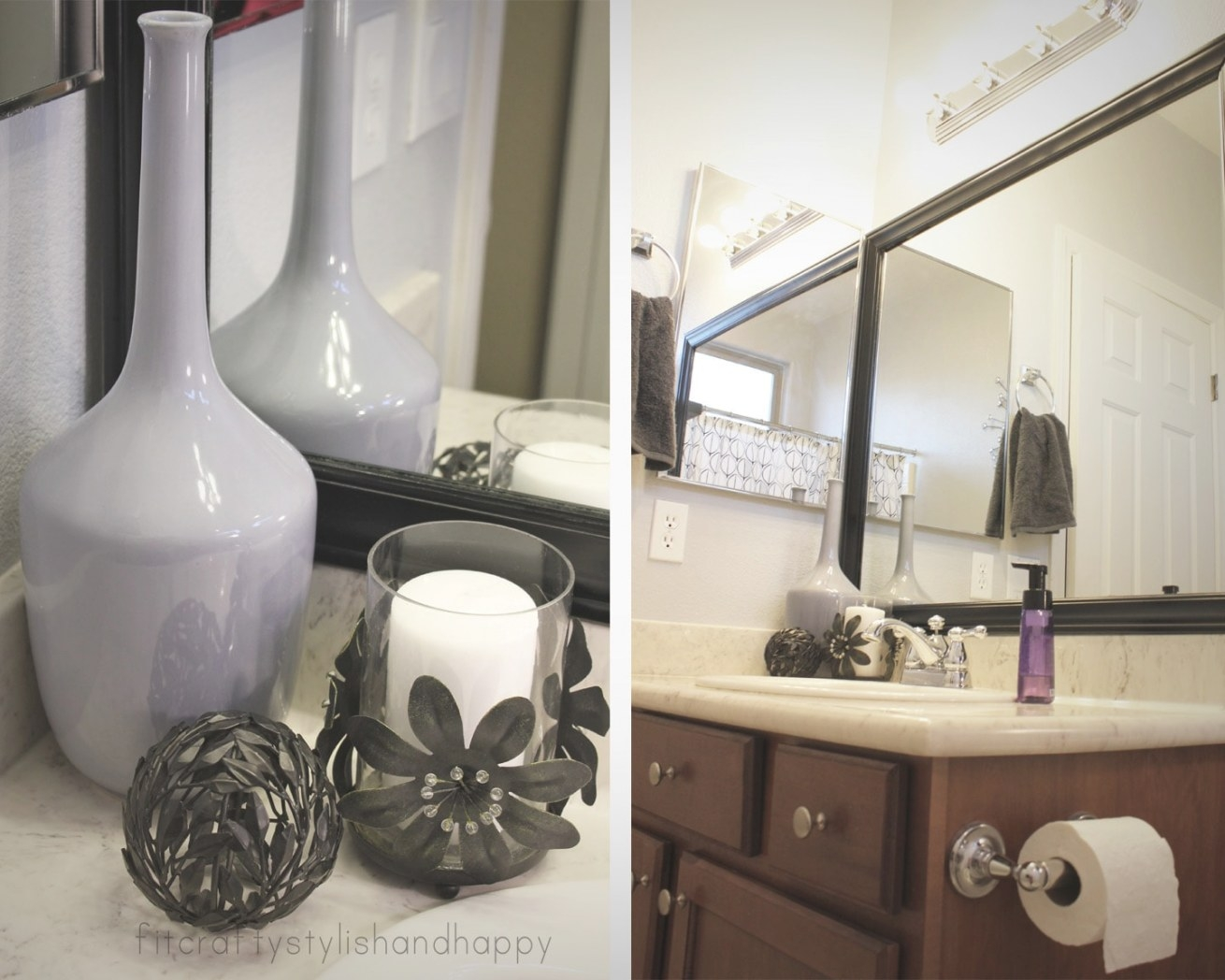 How To Decorate Large Bathrooms - Bonito Designs for Black And Gray Bathroom