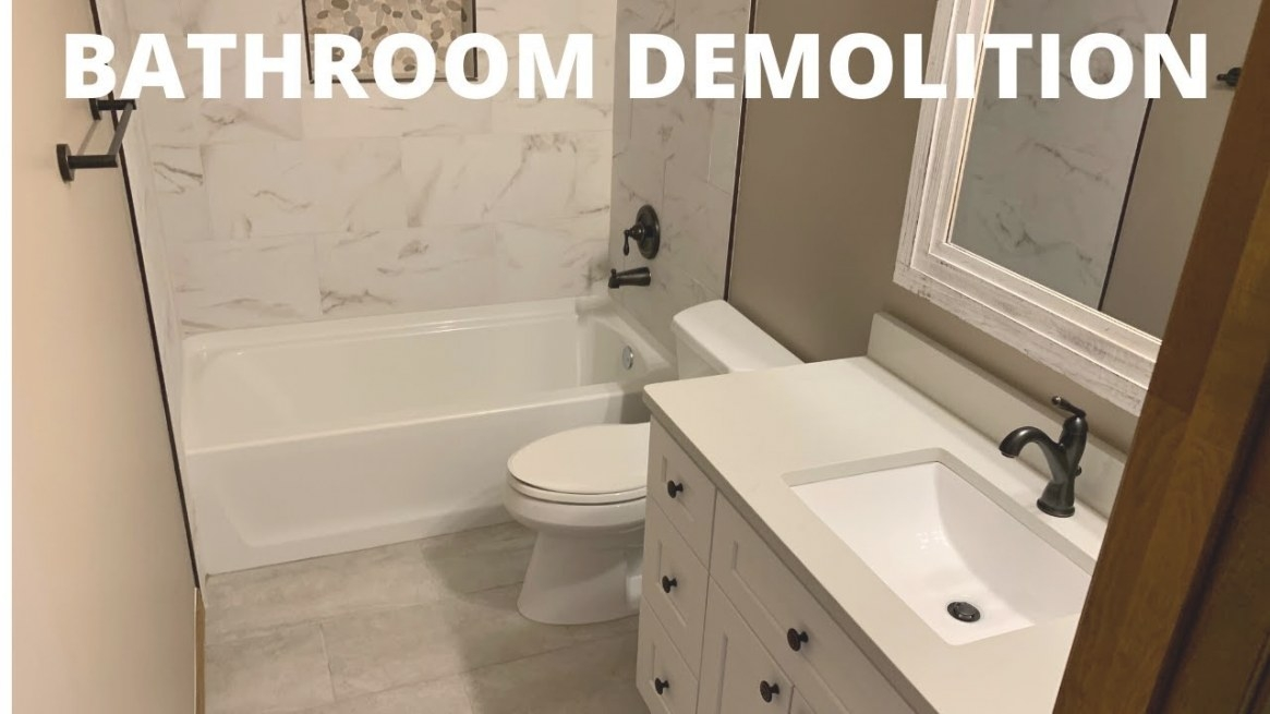 How To Do Bathroom Demolition | Home Renovation Tips - Youtube pertaining to Picture Of A Bathroom