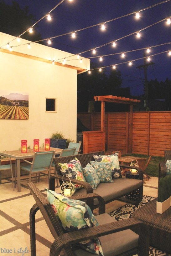 How To Hang Patio String Lights | Blue I Style - Creating with regard to How To Hang Outdoor String Lights