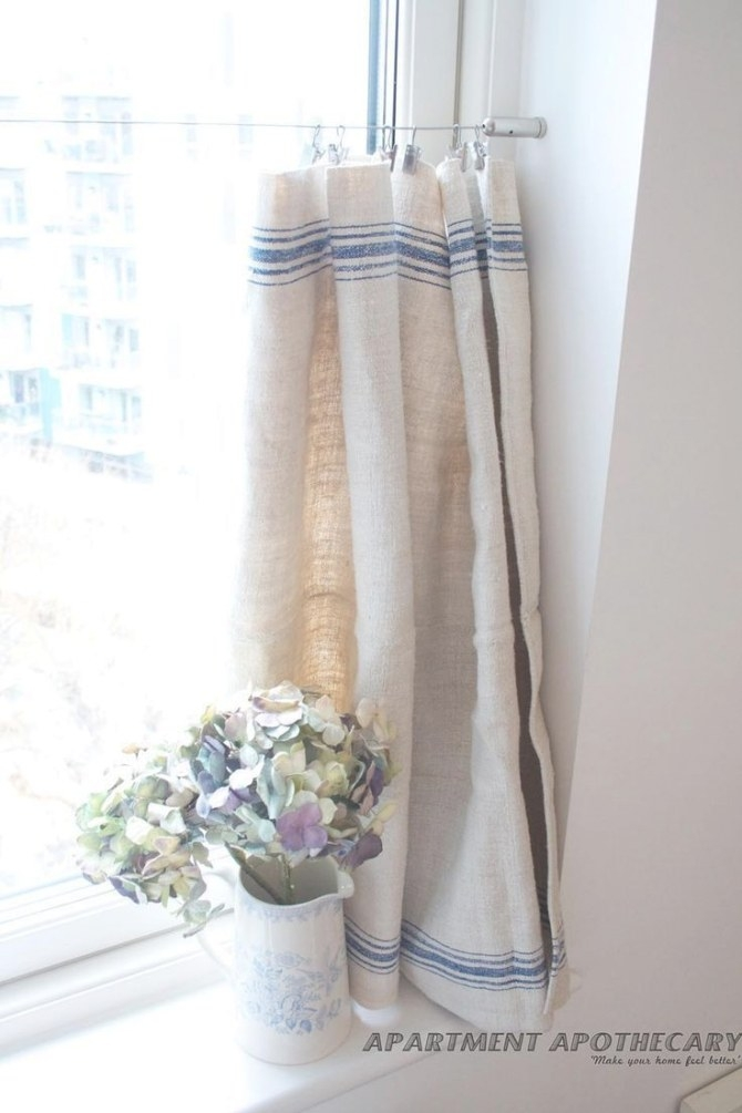 How To Make A No-Sew Curtain From An Grain Sack..i Can within Where To Buy Curtains