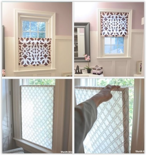 How To Make A Pretty Diy Window Privacy Screen | Window pertaining to Small Privacy Window Bathrooms