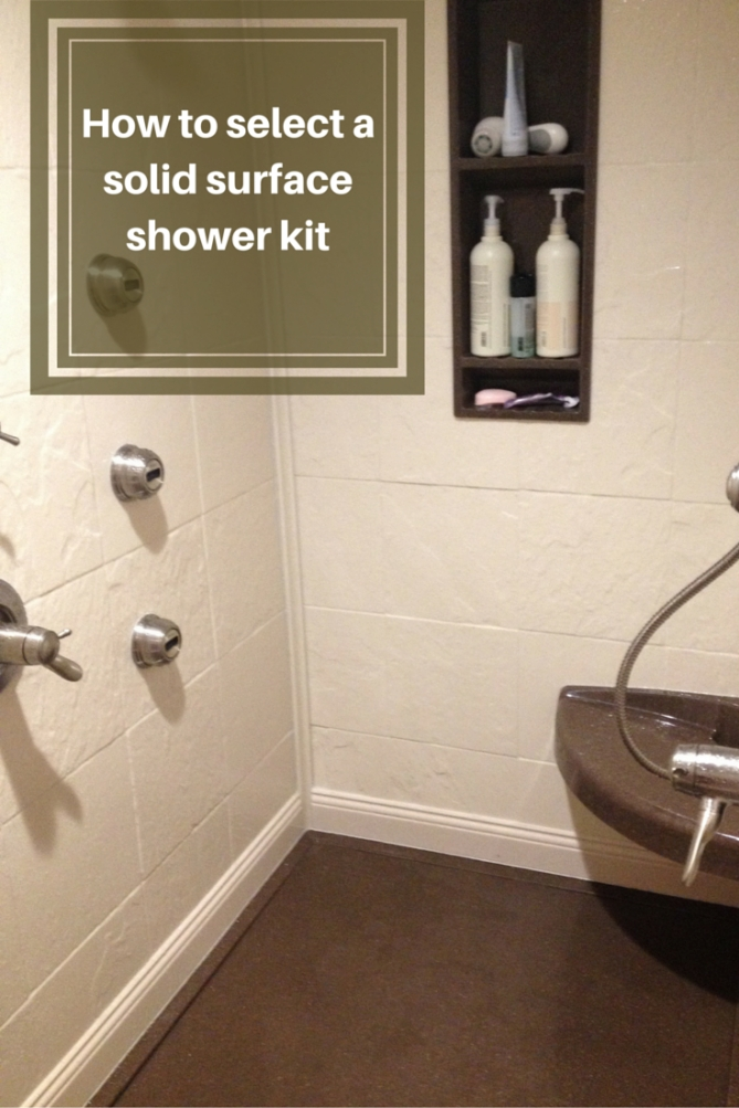 How To Select A Stone Solid Surface Shower Kit | Shower for Solid Surface Shower Wall Panels