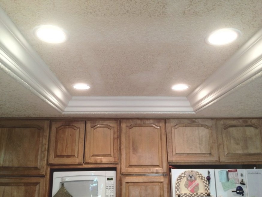 How To Update Old Kitchen Lights - Recessedlighting within Replace Fluorescent Light Fixture In Kitchen