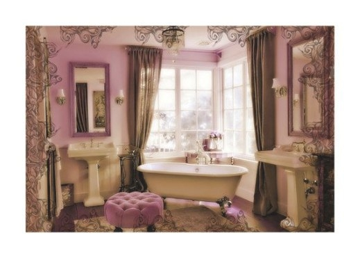 Http://Www.etsy/Listing/116360654/Still-Life in Pink And Brown Bathroom