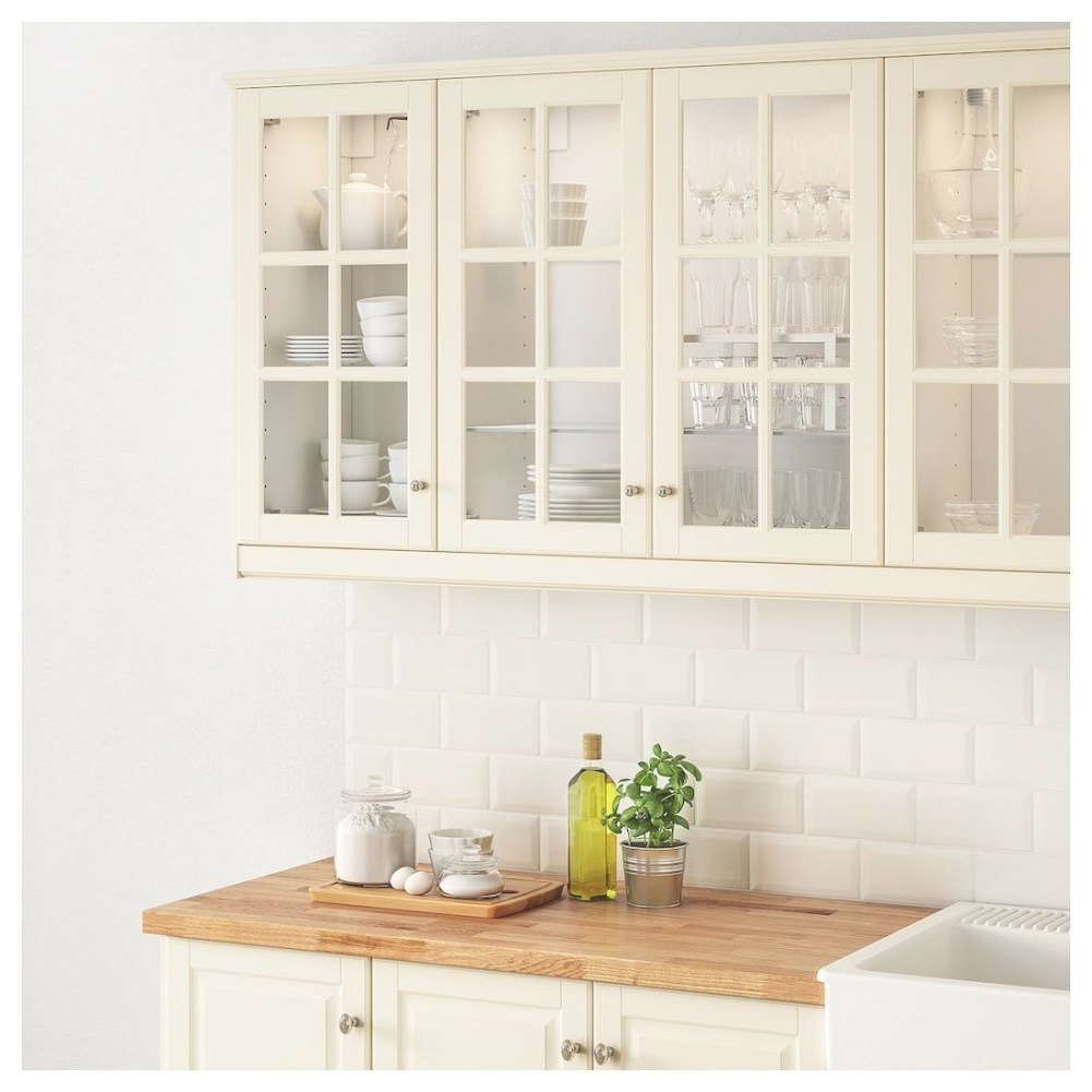 Ikea Bodbyn Off-White Glass Door | New Kitchen Cabinets throughout Ikea Kitchen Sale 2019