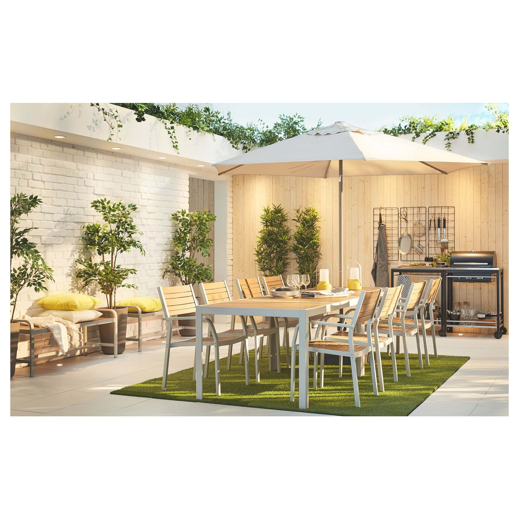 Ikea - Själland Table And 4 Chairs, Outdoor Light Brown inside Ikea Kitchen Sale 2019