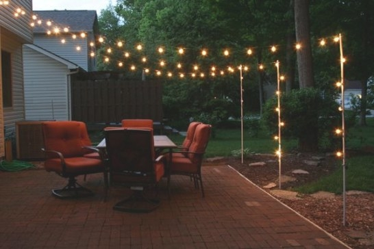 Image From Http://Breadandcheeseplease/Myblog/Wp within How To Hang Outdoor String Lights