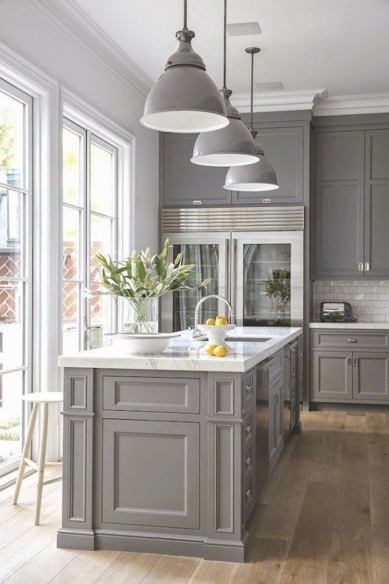 {Inspired By} Beautiful & Charming Kitchens | Küchendesign inside White And Gray Kitchens