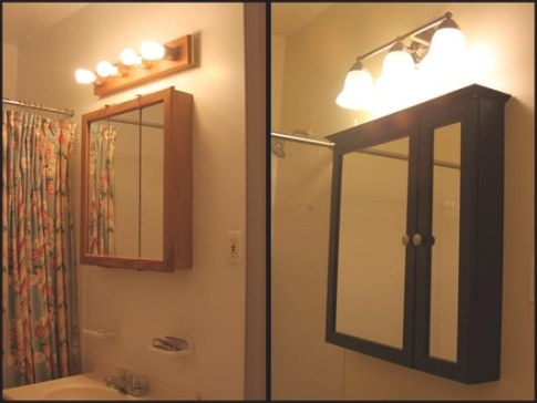 Installed New Medicine Cabinet And Light Fixture | Yelp throughout Medicine Cabinet With Lights