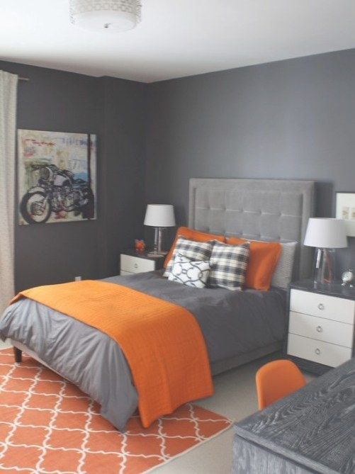 Interior Design Ideas, Architecture Blog & Modern Design for Blue And Orange Bedroom