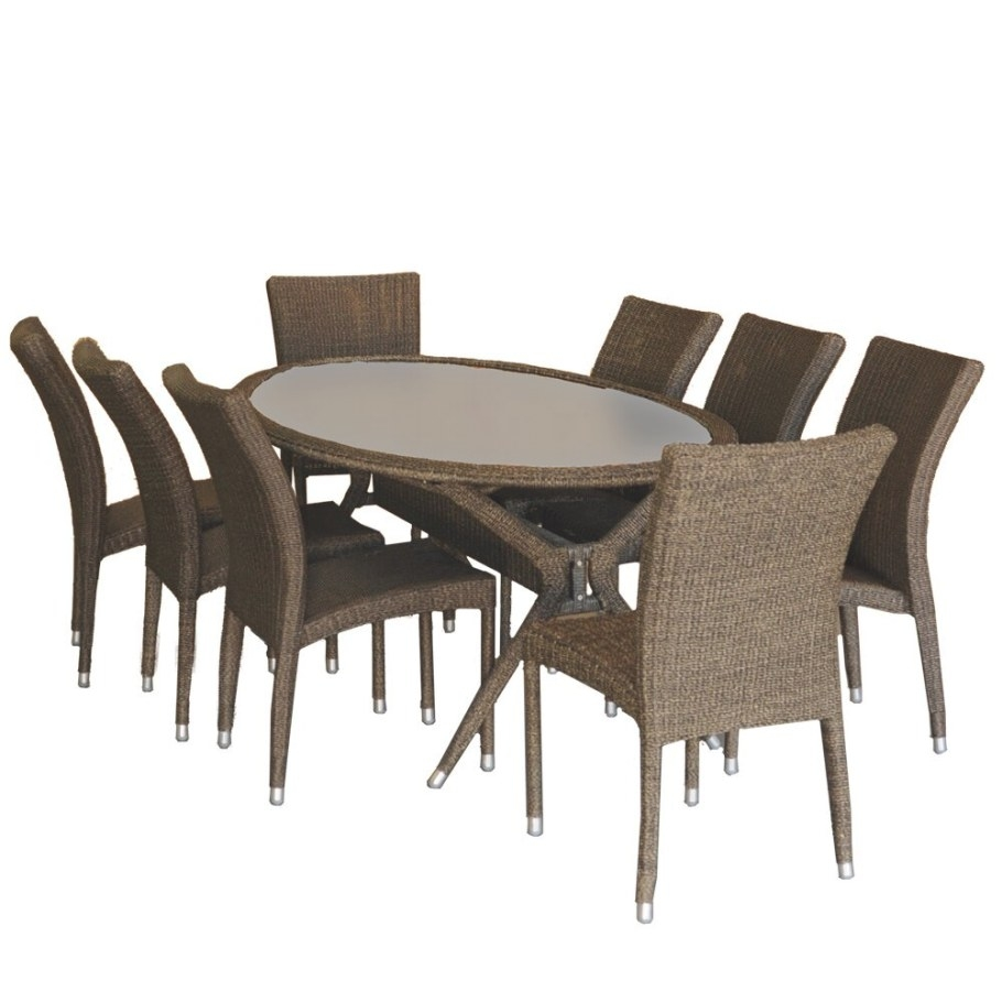International Home Miami Bari 9 Piece Dining Set & Reviews in 9 Piece Dining Set