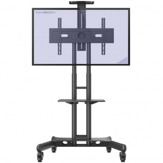 Invision® Gt1200 Screenstation™ Mobile Tv Stand Trolley within Tv Stand With Wheels