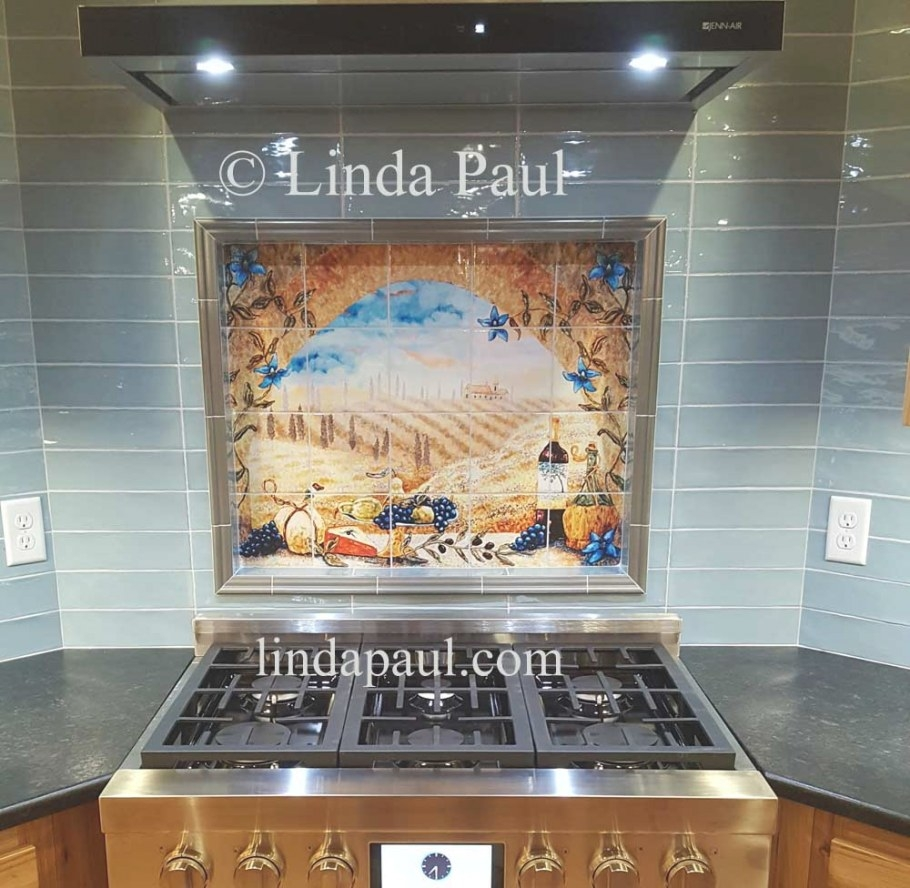Italian Tile Murals - Tuscany Backsplash Tiles with regard to Italian Tile Backsplash Kitchens
