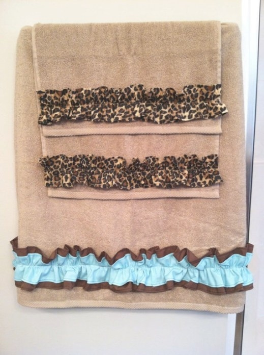 Items Similar To Towel Set Hand Bath Washcloth Bathroom with Teal And Brown Bathrooms