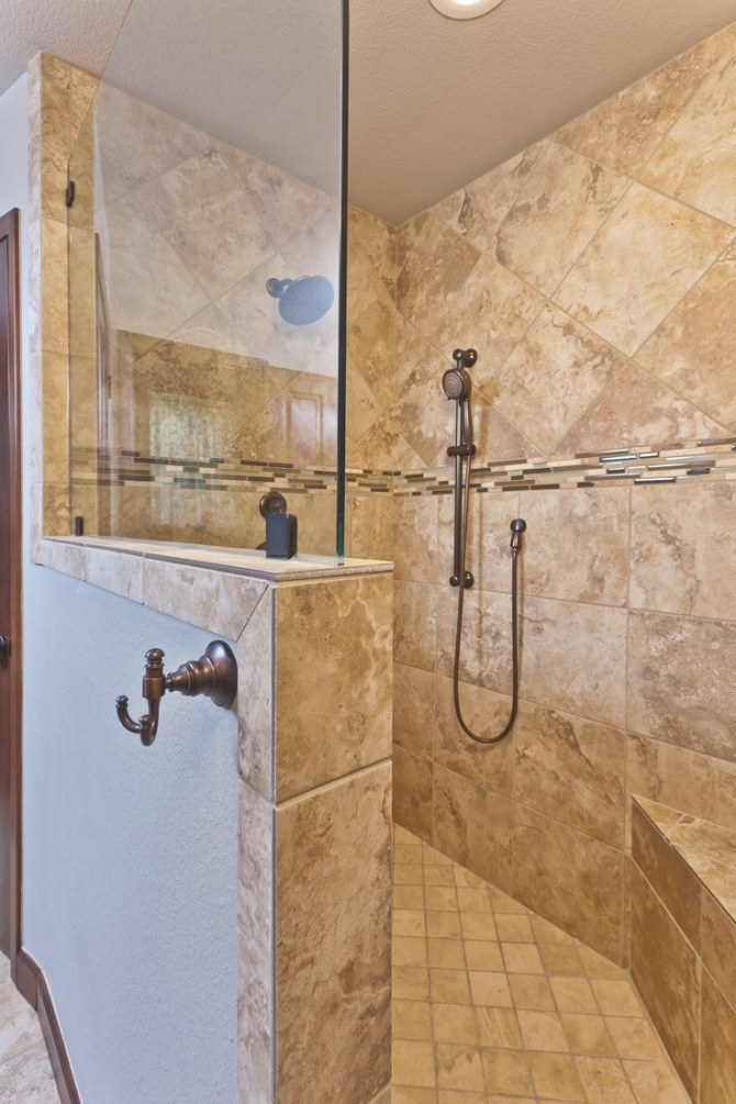 Kalinowski Master Bath Remodel. Beautiful Walk-In Shower throughout Walk In Shower For Small Bathroom