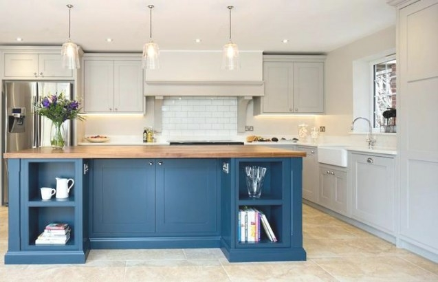Kitchen Decoration Gray Blue Walls White With Small Color regarding Blue And Grey Kitchen