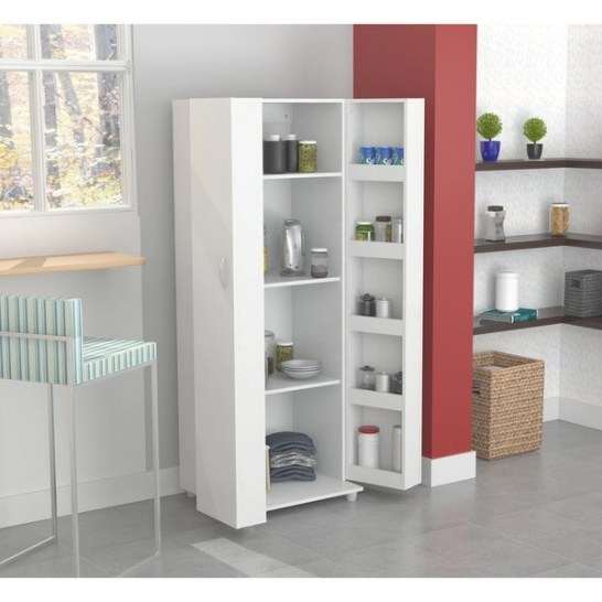 Kitchen Storage Cabinet Pantry Organizer With 5 Shelves In for Kitchen Pantry Storage Cabinet