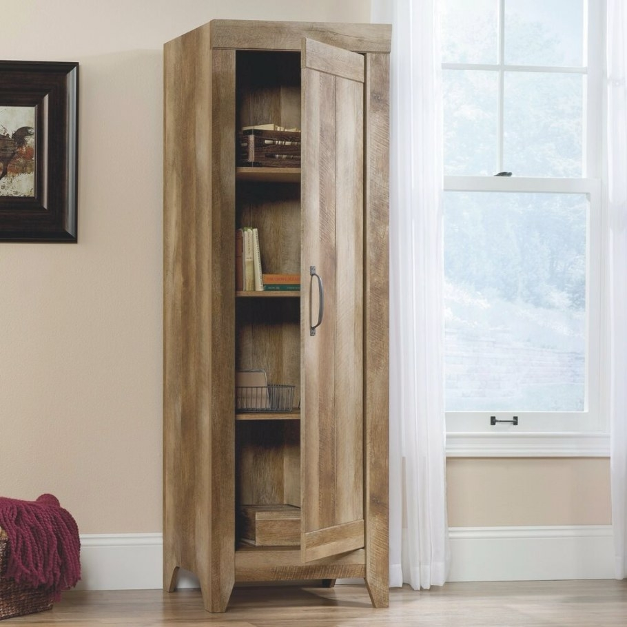 Kitchen Storage Cabinet Pantry Tall Rustic Food Organizer within Kitchen Pantry Storage Cabinet