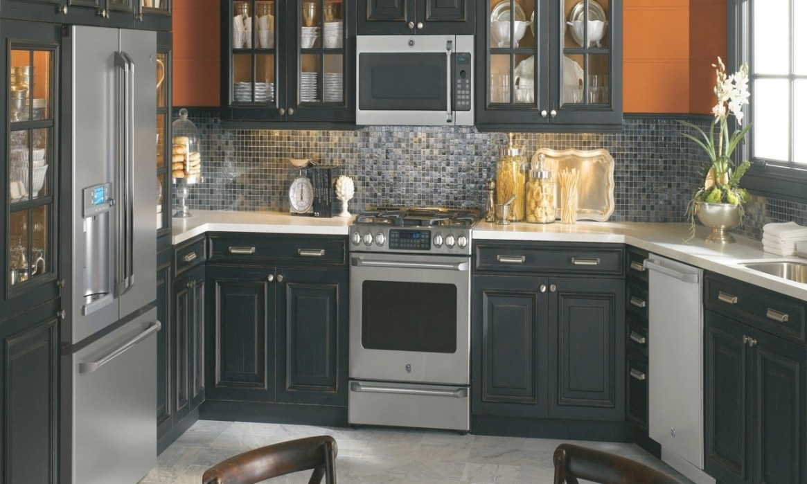 Kitchen With Black Appliances, Kitchen Cabinets Black with regard to Black Kitchen Cabinets Small Kitchen