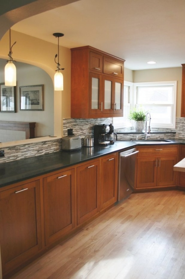 Kitchen:kitchen Color Schemes With Cherry Cabinets Plus regarding Cherry Wood Cabinet Kitchens