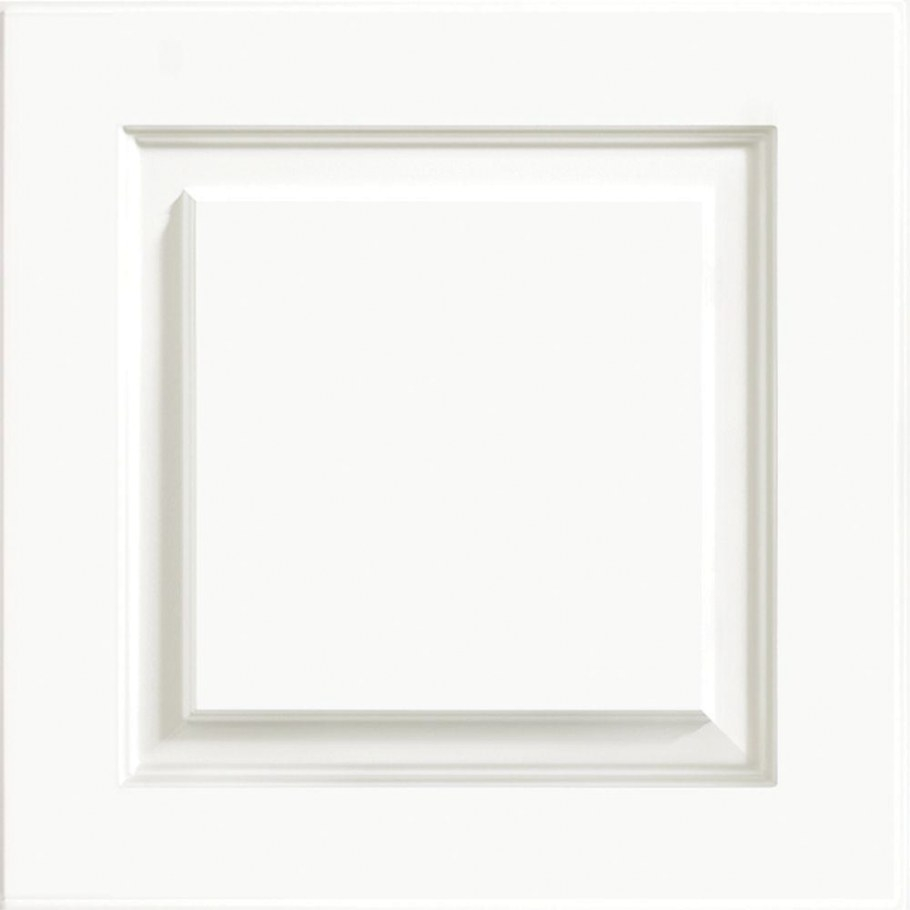 Kraftmaid 15X15 In. Cabinet Door Sample In Summit White intended for White Kitchen Cabinet Doors