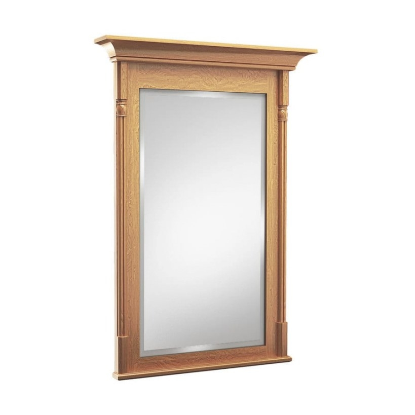 Kraftmaid 48-In Praline Rectangular Bathroom Mirror At inside Rectangular Mirrors For Bathroom